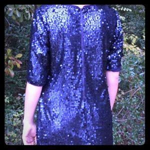 RACHEL Rachel Roy Navy Sequin Dress Sz 6